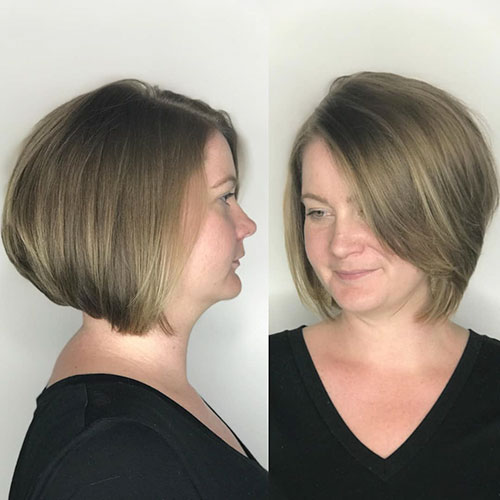 Thick Short Hairstyle Images