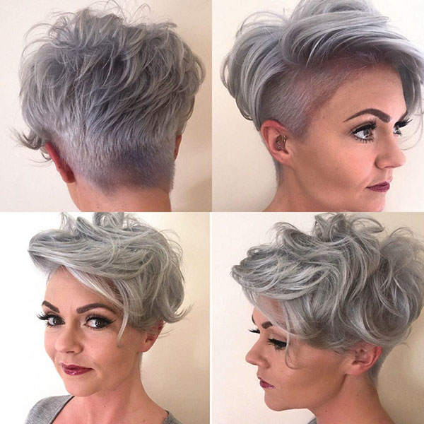 Pixie Haircuts For Grey Hair