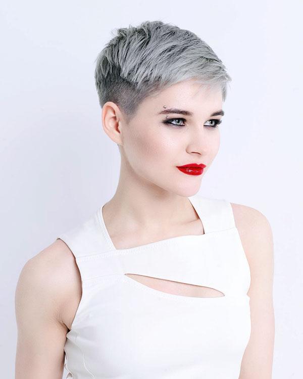 Grey Pixie Haircuts