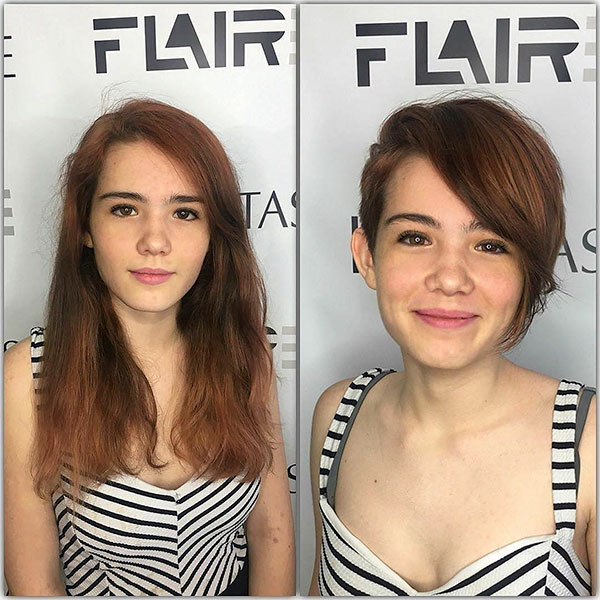 Pixie Haircut Pictures With Long Bangs