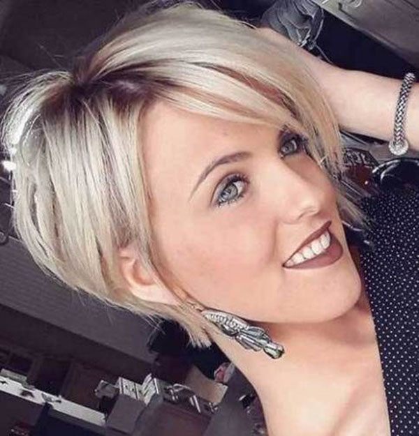 Pixie Hairstyle Images With Long Bangs