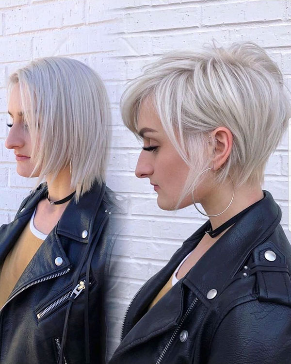 Ash Blonde On Short Hair
