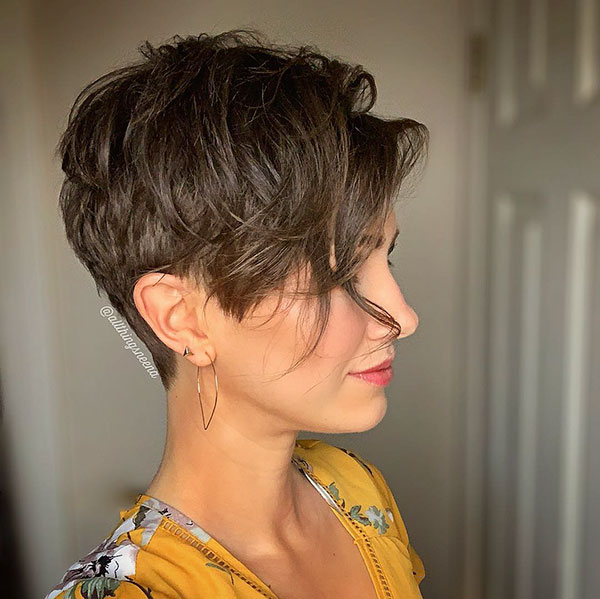 Long Pixie With Bangs