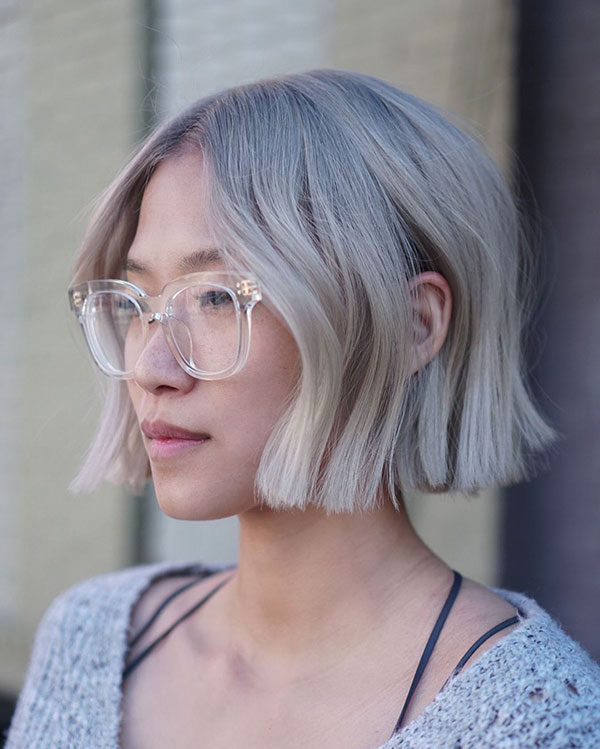 Ideas Of Ash Blonde Hair For Short Hair
