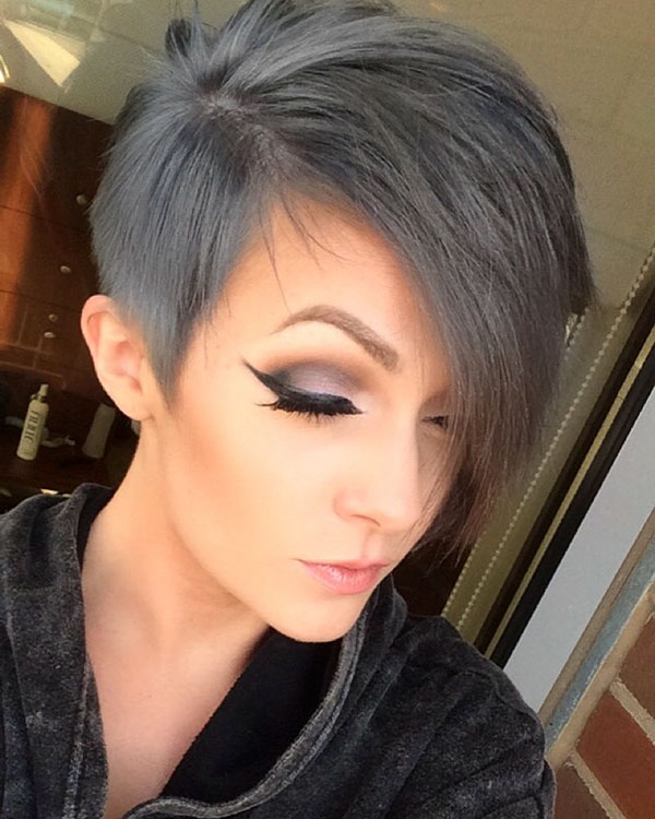 Pixie Cut With Grey Hair