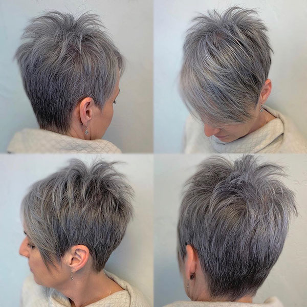 Pixie Grey Hair For Women
