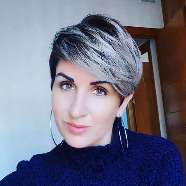 Pixie Hairstyles For Grey Hair