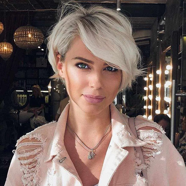 Pixie Hair With Long Bangs