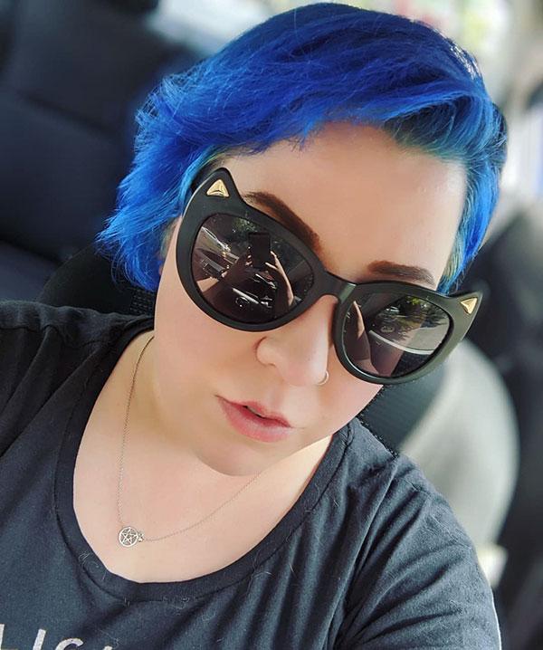 Blue Hair Color For Short Hair