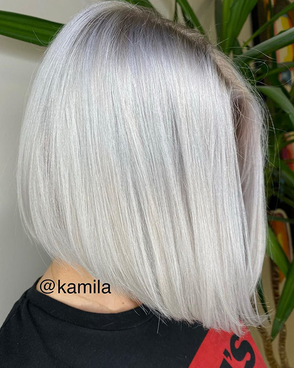 Platinum And Short Hair