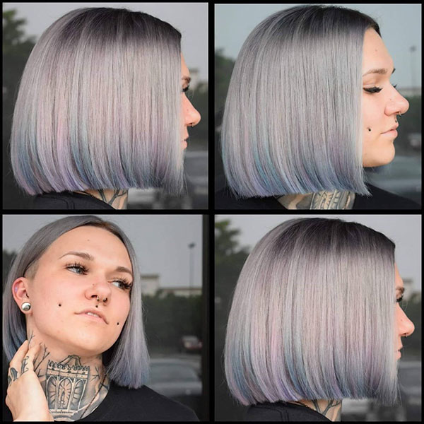 Platinum Hair Color On Short Hair