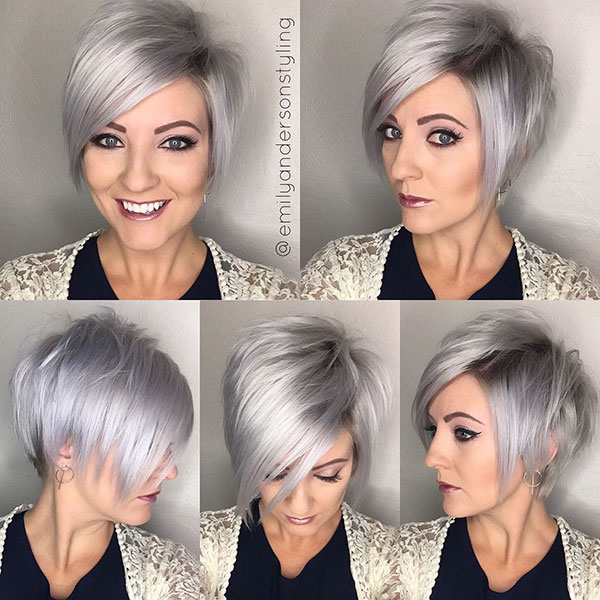Short Platinum Hair Color