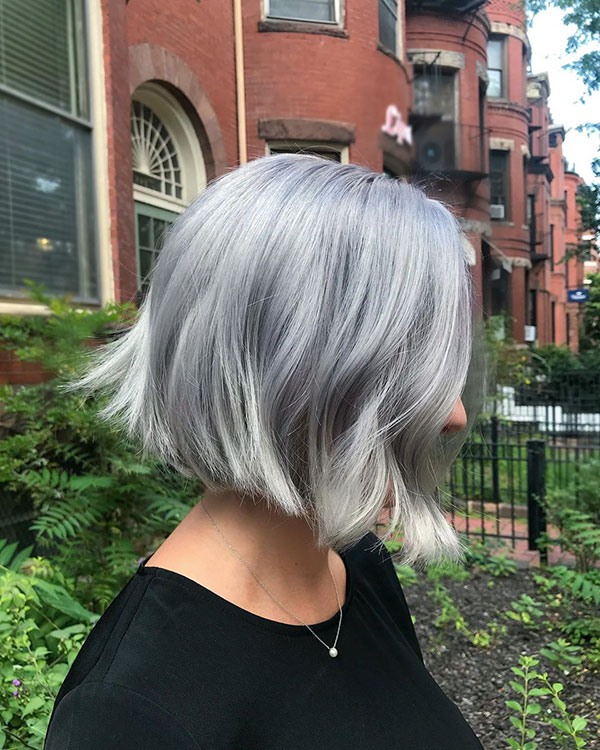 Short Platinum Hair