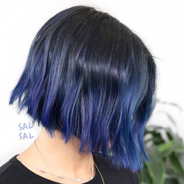 Blue Hair Ideas Short