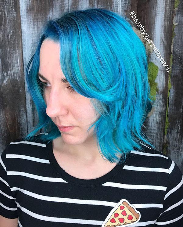 Super Short Blue Hair