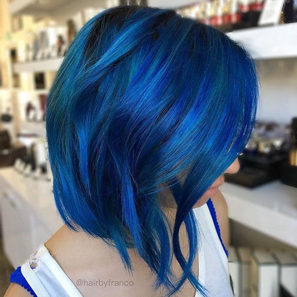 Short Haircuts For Blue Hair