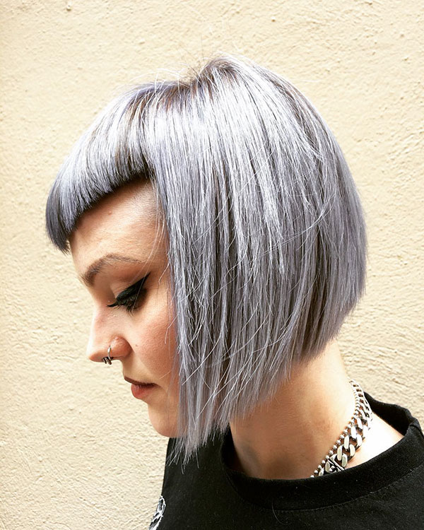 Pictures Of Platinum Short Hairstyles