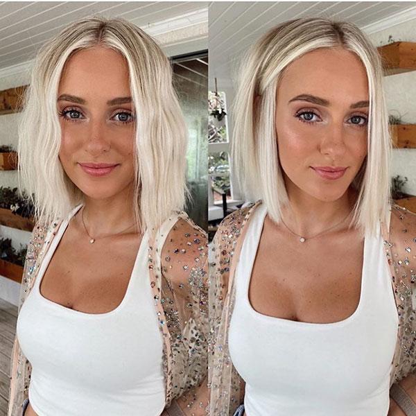 Light Blonde Short Hair