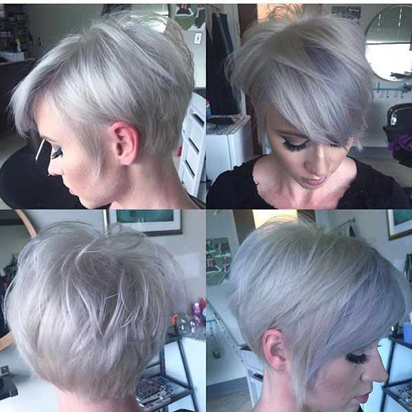 Platinum Hair Color For Short Hair