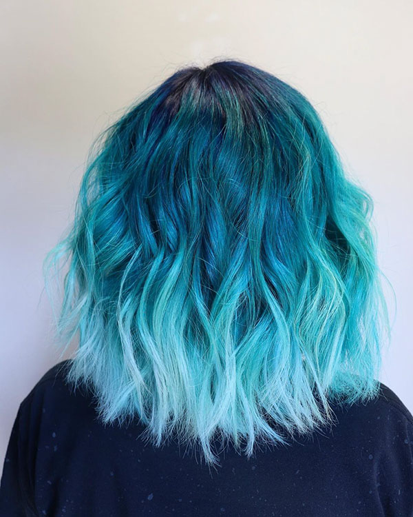 Pictures Of Short Blue Hair