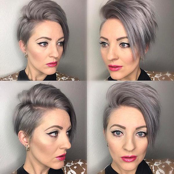 Short Silver Hair