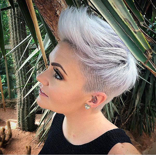 Short Haircuts On Silver Hair