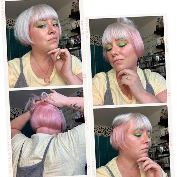 woman short hair cut style